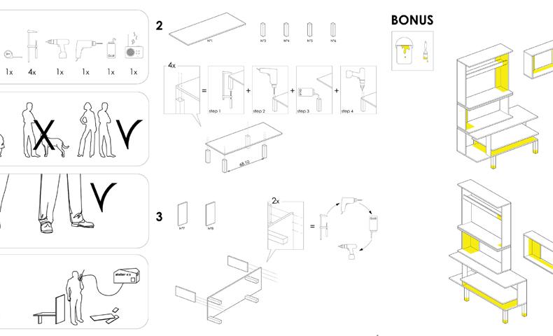 atelier4cinquieme_atelier 4/5_architecture_design_récup_ikea_customisation_hackers_commode tarva_étagère artav_belgique